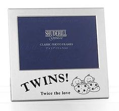 Silver Twice the Love Twins Photo Frame-m1