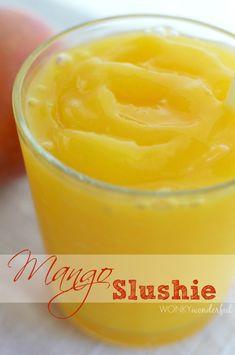 Mango Slushie Frozen Drink : Summer Dessert Recipe : Healthy Beverage #ad #ALOVE #Alodrink