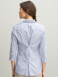 Button back shirt, perfect way to taylor a large shirt. (don't know if I would ever do this, but its cool!)