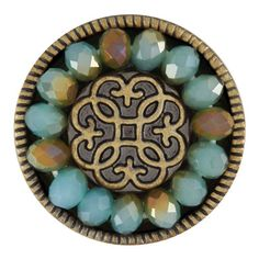 Ginger Snaps Jewelry - Brass Facet Mix - Seafoam