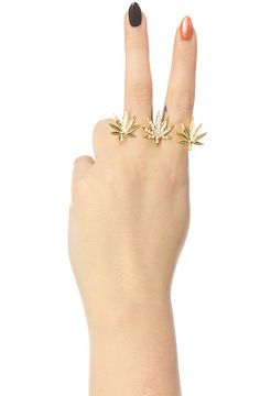 You need some bling to spice up any outfit and what would be more fitting than this amazing ring! The High Life Triple Finger Ring in Gold by *Accessories Boutique #MissKL #MissKLCoachella