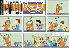 "Created by Jim Davis, Garfield is about the famous fat cat and his hilarious daily adventures with his ""pal"" Odie and others. Garfield And Odie, Garfield Comics, Garfield Cartoon, Cat Cartoons, Hawkeye Comic, Brave Little Toaster, Hagar The Horrible, Jim Davis, Family Game Night"