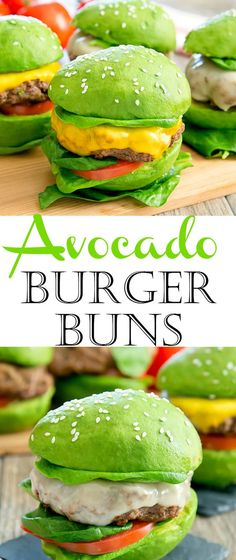 Avocado Burger Buns. A fun and low carb way to serve burgers. Perfect for your next grilling event or party!