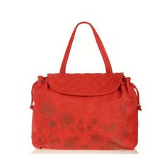 Blossom Satchel - Coral Red by Vanessa Boulton Original Handbags