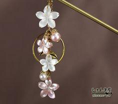 【楽天市場】美しい小桜。o○極上天然W&ピンクシェル*本真珠かんざし【05P01Mar15】:しぇんま屋
