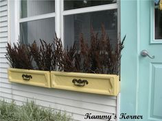 Cute idea & would hold up well in dryer climates. Kammys Korner: Dresser Drawer Window Boxes