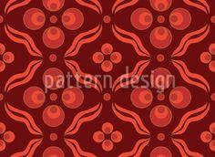 Cintemani Pattern Design Darkred, designed by Figen Topbas Fukara    High-quality Vector Pattern from patterndesigns.com