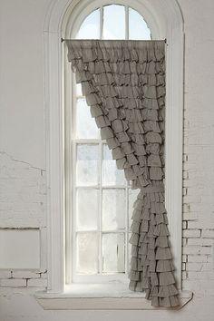 Cute ruffled curtain.