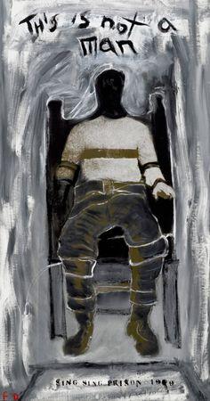 """Lawrence Ferlinghetti, """"This is not a man"""", olio e acrilico su tela (1993-1994) #arte"""