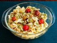 Lemon Pasta Salad with Roasted Tomatoes, Chickpeas and Feta by Tori Avey