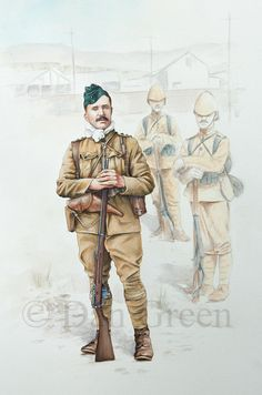 Captain, Royal Irish Rifles, South Africa 1900 by Dan Green