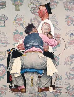 Norman Rockwell (American, 1894–1978). The Tattoo Artist, 1944. Oil on canvas, 43 1/8 x 33 1/8 in. (109.5 x 84.1 cm). Brooklyn Museum,