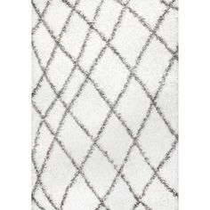 Tabron White Area Rug