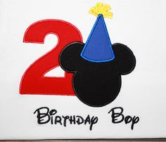Mickey Mouse Birthday Shirt customized. $22.00, via Etsy.