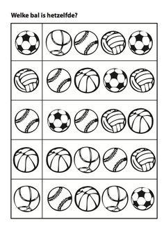 Sports matching balls activity page