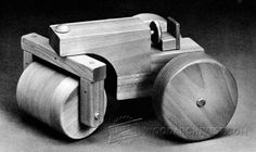 Wooden Steam Roller Plan - Children's Wooden Toy Plans and Projects | WoodArchivist.com