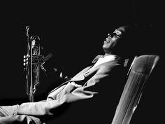 Miles Davis portrait. Best Jazz of all-time