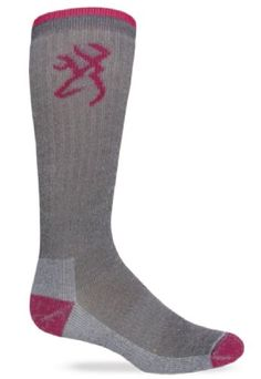 Browning Hosiery Womens Ladies Ultimate Merino Wool Sock 2 Pair Pack GreyFuschia Medium ** Find out more about the great product at the affiliate link Amazon.com on image.