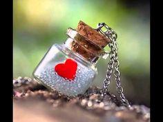 From the bottle of my heart by lieveheersbeestje on deviantART Bottle Jewelry, Bottle Charms, Bottle Necklace, Bottle Art, I Love Heart, My Heart, Miniature Bottles, Message In A Bottle, Love Images
