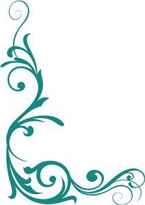 Silhouette Online Store - View Design #18992: swirls
