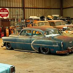 "1954 Chevrolet With 20"" Steelies (Detroit Steel Wheels)"