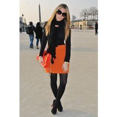 Like this look for my orange skirt