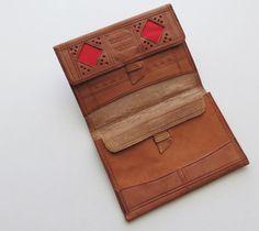 Vintage Tooled lederen portemonnee Bifold door RuseDreamVintage