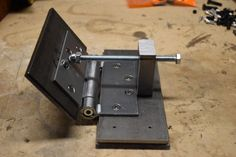 Knife Grinding Jig : 11 Steps (with Pictures) - Instructables Knife Grinding Jig, Knife Sharpening, Spring Door Hinge, Knife Making Tools, Trench Knife, Diy Knife, Blacksmith Tools, Blacksmith Projects, Belt Grinder