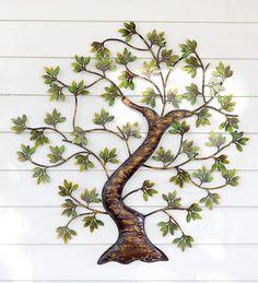 Outdoor Wall Decor Metal metal wall decor, metal tree wall art, tree decor, tree wall decor