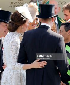 Catherine Duchess of Cambridge and Prince William Duke of Cambridge attend day 1 of Royal Ascot at Ascot Racecourse on June 20 2017 in Ascot England