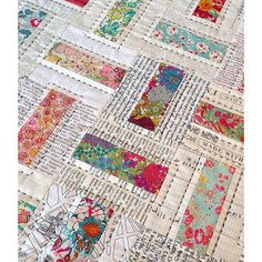 Tikka London pattern; Domino quilt in Liberty fabric | by Cottilello
