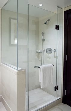 glass shower door – handle/towel holder combo