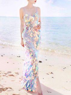 2019 Women V Neck Sequin Maxi Dress Sexy Club Sexy High Split Long Beach Dress Summer Spaghetti Straps Party Dresses Vestidos Sexy Maxi Dress, Sexy Dresses, Evening Dresses, Fashion Dresses, Dress Beach, Linen Dresses, Beach Dresses, Dress Summer, Dresses Uk