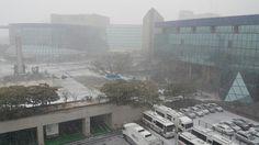 하얀 눈이 날리는 KBS 한국방송 Snow down to KBS 2016.1.13 (수)  https://youtu.be/R26bhjNhSm0