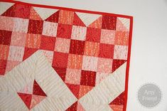 love this! going to make it bigger for a valentine's day quilt!