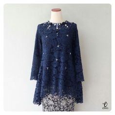 New ideas dress hijab blue Kebaya Lace, Kebaya Hijab, Batik Kebaya, Kebaya Dress, Kebaya Muslim, Muslim Dress, Batik Dress, Batik Fashion, Hijab Fashion