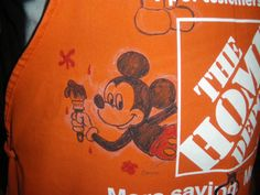 By Artist Don Shane Home Depot Apron Mickey Mouse