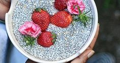 Just Pinned to Food: 597 Likes 6 Comments - Coffeeshops And More (@yourcoffeeshop) on Instagram: Chia Seed Strawberry Smoothie Bowl | Tag Your Friends #cafe #coffeeshop #coffee #snack #caffeine http://ift.tt/2qABIPO