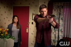 """Supernatural -- """"Love Hurts"""" -- Image SN1113a_0377.jpg -- Pictured (L-R): Luciana Carro as Melissa and Jensen Ackles as Dean -- Photo: Diyah Pera/The CW -- © 2016 The CW Network, LLC. All Rights Reservedpn"""