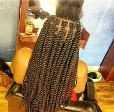 Marley twists medium great braid size too.