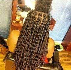 Marley twists medium great braid size too. http://www.shorthaircutsforblackwomen.com/best-hair-weave-to-buy/