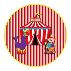 "Convites Digitais Simples: Kit de Personalizados Tema ""Circo"" para Imprimir Circus Carnival Party, Circus Birthday, Birthday Party Themes, Circus Circus, Lion Party, Tangram, Tent Cards, Baby Party, Party Printables"