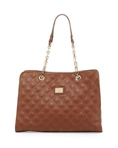 Lucile Quilted Faux Leather Shoulder Bag, Brown by Christian Lacroix at Neiman Marcus Last Call.
