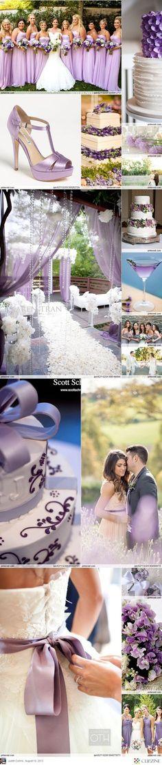 Lavender Weddings- perfect color scheme