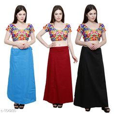 Checkout this latest Petticoats Product Name: *Trendy Cotton Women's Petticoat Combo (Set Of 3)* Fabric: Cotton Size: Up to 34in to 42 in Hip Round - 44 In Length - 38 In Flair From Bottom - 78 In Pattern: Solid Description: It has 3 Piece Of Petticoat  Country of Origin: India Easy Returns Available In Case Of Any Issue   Catalog Rating: ★4 (454)  Catalog Name: Solid Cotton Petticoats Combo CatalogID_15359 C74-SC1019 Code: 025-154230-9461