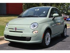 The Fiat 500 in Verde Chiaro. Why can't others offer the beautiful palette offered by Fiat and VW.