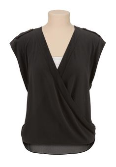 Wrap front high-low blouse #maurices #spon @maurices