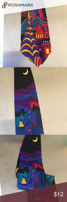 Art Deco City Skyline Colorful Necktie Art Deco City Skyline Colorful Necktie / Tie. Accessories Ties