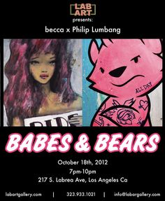 Philip Lumbang collab show with Becca | Lab Art Street Art Blog