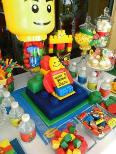Lego theme Birthday Party Ideas | Photo 1 of 19 | Catch My Party